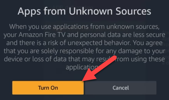 Turn on Unknown Sources